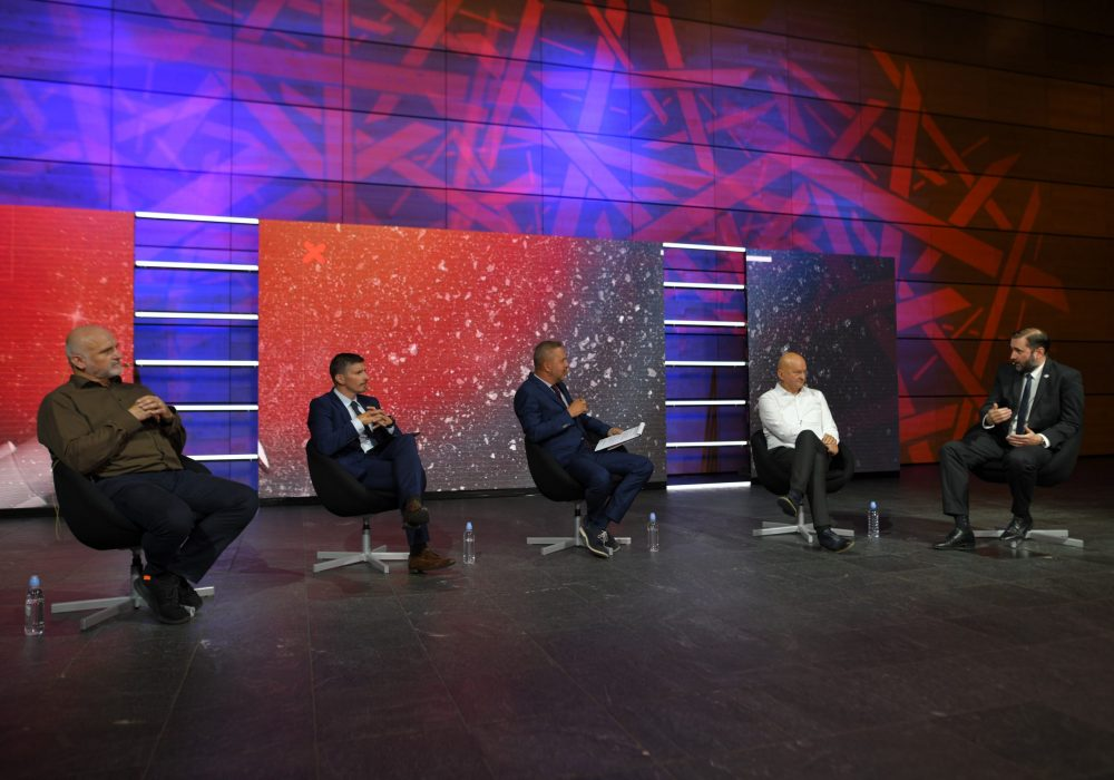 Panel rasprava Thinking Out Loud_ Kako poboljšati zdravstveni sustav_Aleksandar Džakula_Ognjen Bagatin_Moderator Petar Štefanić_Stjepan Orešković_Krešimir Luetić